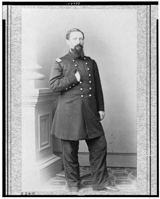 [Col. W.E. Woodruff, 2d Kentucky Infantry, full-length portrait, standing, facing right]