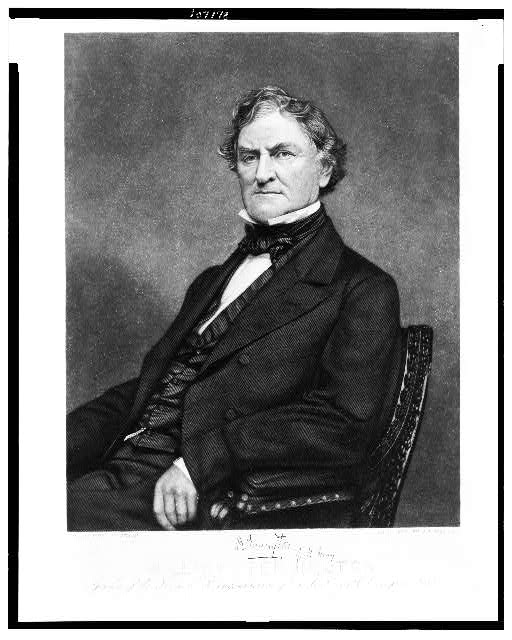 William Pennington. Speaker of the House of Representatives of the U.S. 36th Congress 1860
