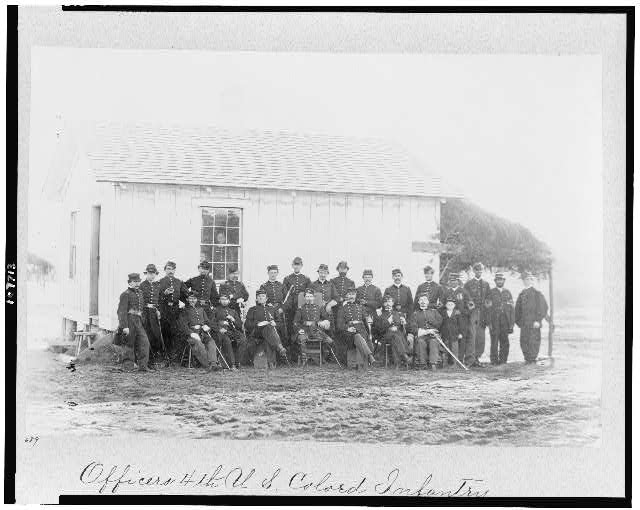 Officers 4th U.S. Colo[r]ed Infantry, Fort Slocum, April, 1865