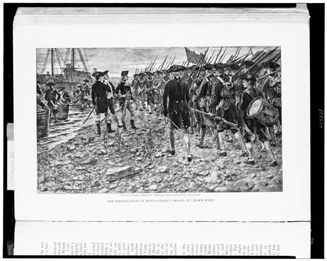 The Embarkation of Montgomery's troops at Crown Point