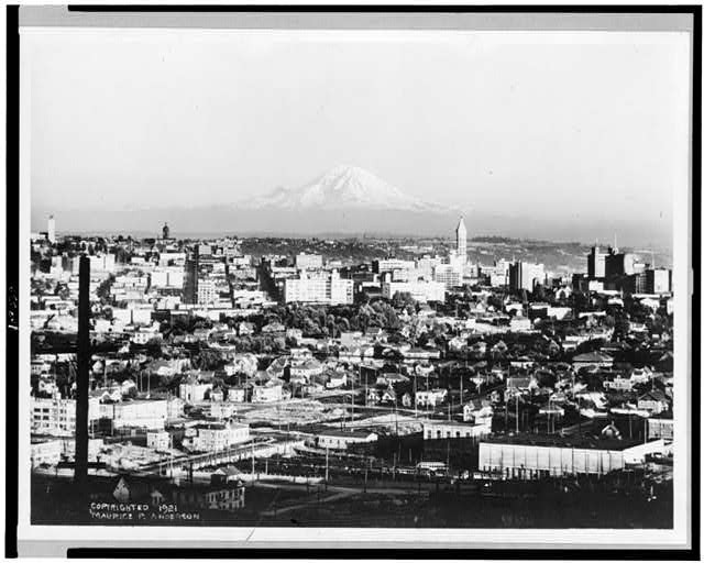 [Mt. Rainier from 1208 Bigelow Ave. N., Seattle, Washington]
