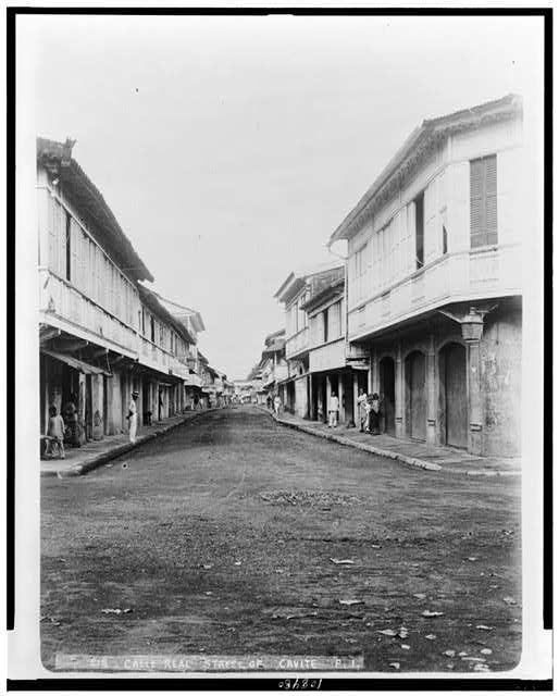 Calle Real street of Cavite, P.I.