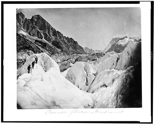 Crevasse--Glacier Montanvert