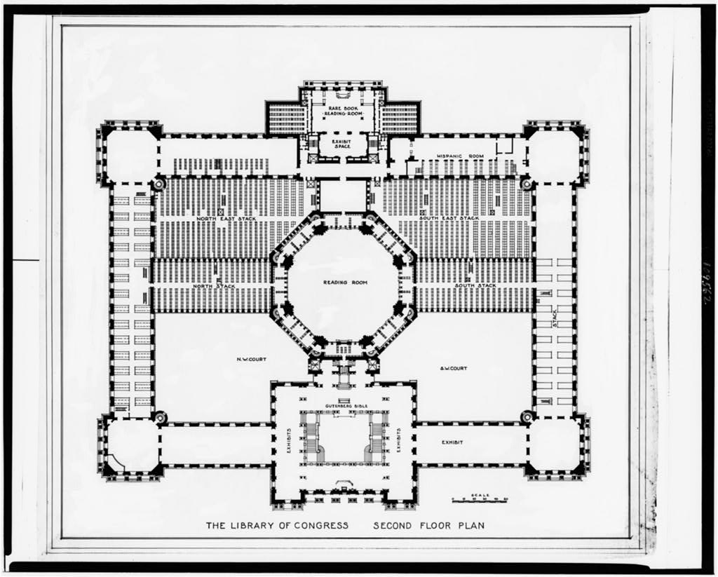 Alterations To The Library Of Congress Thomas Jefferson Building Washington D C Second Floor Plan Library Of Congress