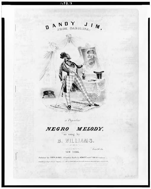 Dandy Jim, from Carolina; a popular Negro melody, as sung by B. Williams