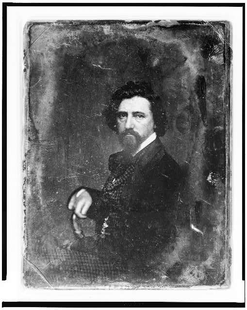 [Thomas Hicks, half-length portrait, body in profile to left, facing front]