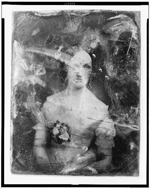 [Emma Gillingham Bostwick, half-length portrait of a woman, three-quarters to left, facing three-quarters to right]