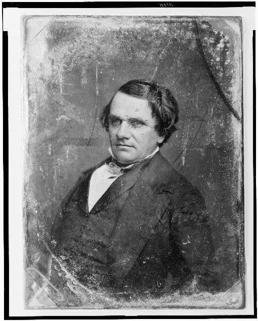 [Stephen Arnold Douglas, head-and-shoulders portrait, slightly to left]