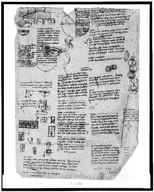 [Reproduction of page from notebook of Leonardo da Vinci]