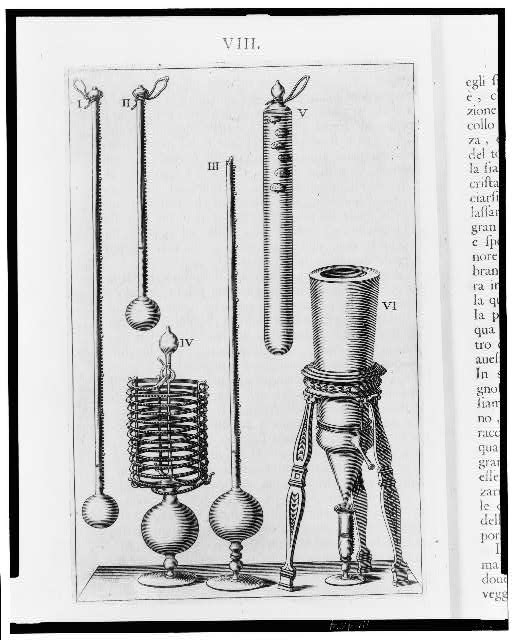 [Examples of Florentine thermometers and a hygrometer]