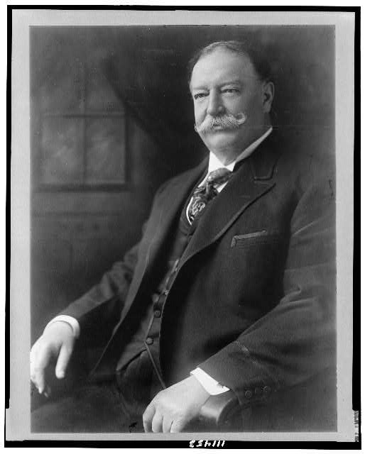[William Howard Taft, half-length portrait, seated, facing left]