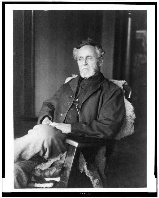 [Dr. Andrew T. Still, three-quarter length portrait, seated, facing left]