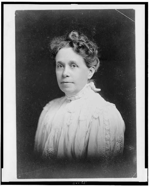 [Anna Adams Gordon, head-and-shoulders portrait, facing left