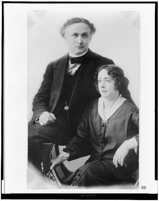 [Harry and Beatrice Houdini, half-length portrait, seated]
