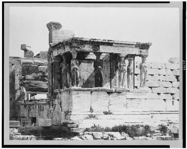 Greece, Athens (Ancient). Erecthion, Caryatide Porch
