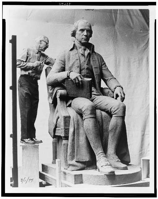 [Photographic prints of maquettes for a statue of Madison, James Madison Building, Library of Congress, Washington, D.C. Maquette of statue of James Madison]