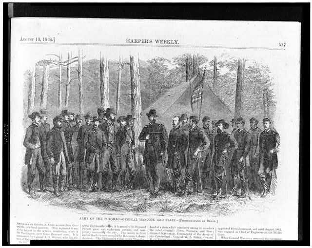 Army of the Potomac--General Hancock and staff