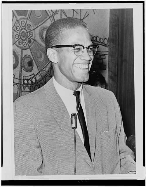 [Malcolm X, half-length portrait, facing right]