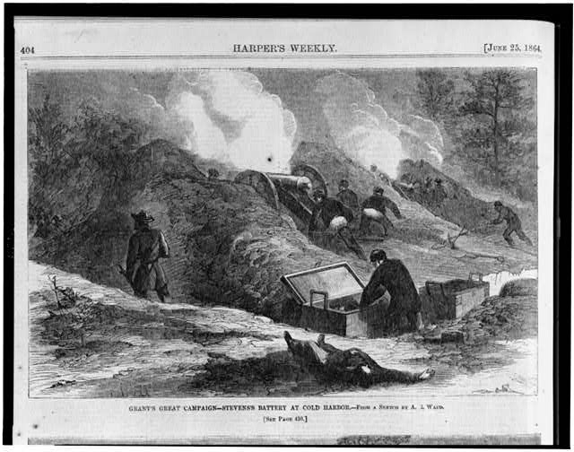 Grant's great campaign--Stevens's battery at Cold Harbor