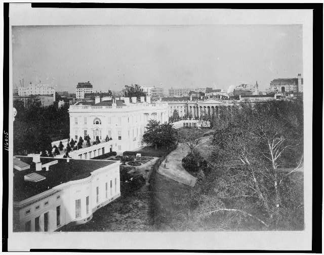 [Exterior of the back of the White House, from the southwest, Washington, D.C.]