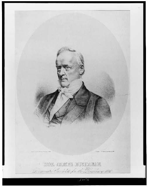 Hon. James Buchanan, democratic candidate for the presidency, 1856