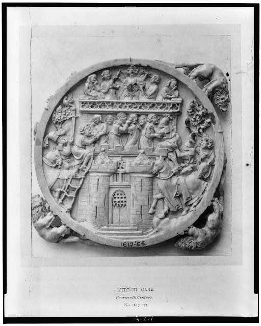 Mirror case, Fourteenth century, No. 1617-55