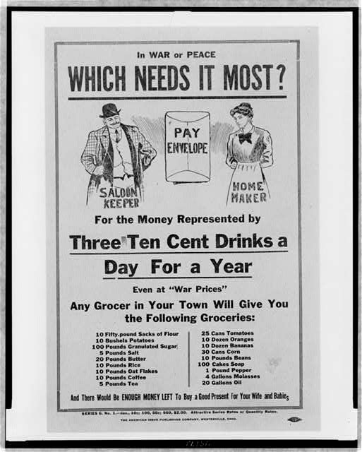 In war or peace which needs it most? For the money represented by three ten cent drinks a day for a year ...