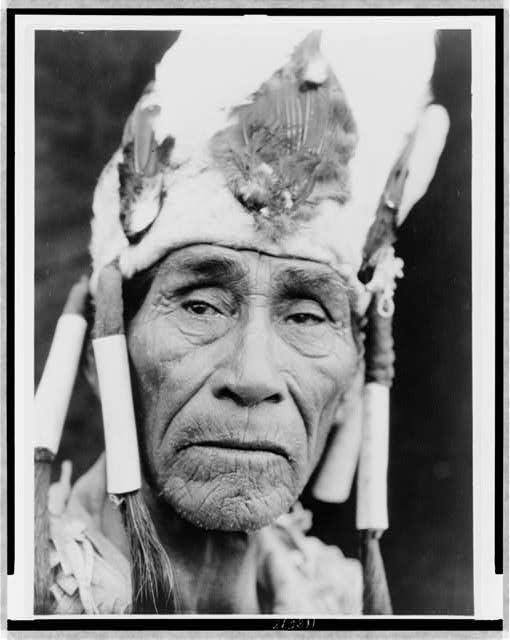 A Klamath head-dress
