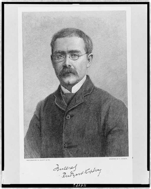 [Rudyard Kipling, head-and-shoulders portrait, facing front]