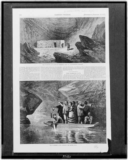 The Mammoth Cave - house formerly used by consumptive patients The Mammoth Cave - crossing the river Styx.