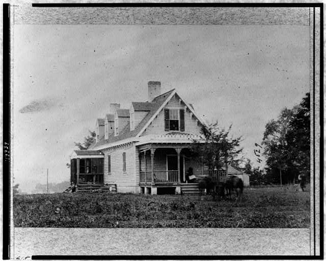 Haxall's house, used as hospital after battle of White Oak Swamp
