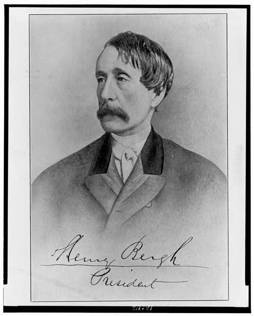 [Henry Bergh, head-and-shoulders portrait, facing left]