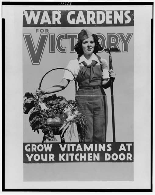 War gardens for victory--Grow vitamins at your kitchen door