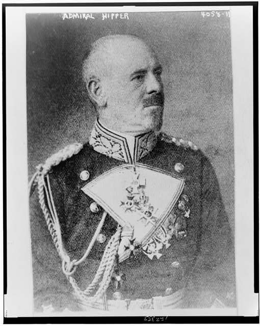 [Adm. Franz Hipper, half-length portrait, facing right]