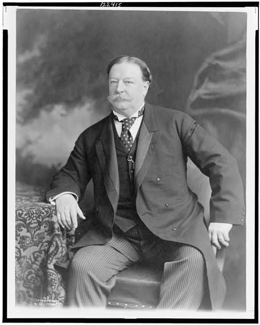 [William Howard Taft, three-quarter length portrait, seated, facing slightly left]