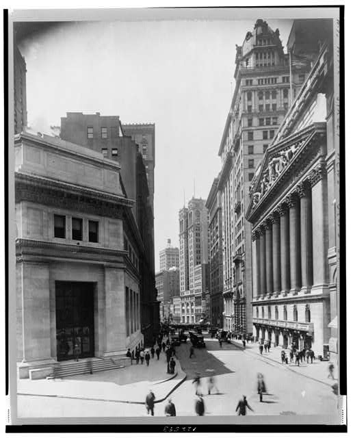 New York City--Broad St. south from Wall St.