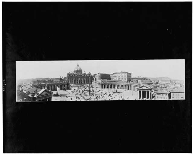 Panoramic view of Piazza St. Peter's, Rome