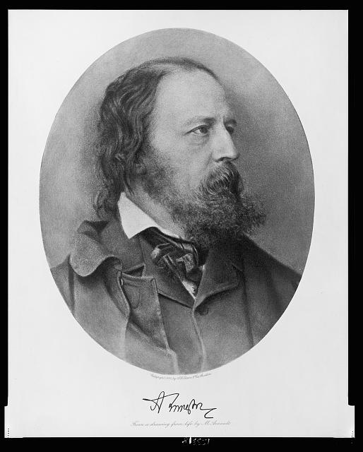 [Alfred Lord Tennyson, bust portrait, facing right]