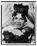 "[Katherine Dunham, head-and-shoulders portrait, facing front, in costume for dance revue ""Bamboche""]"