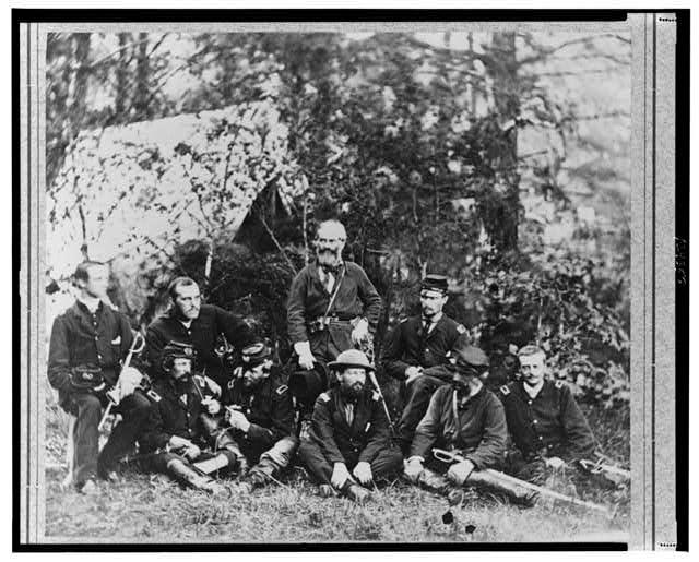 Gen. Heintzelman and staff, Harrisons Landing