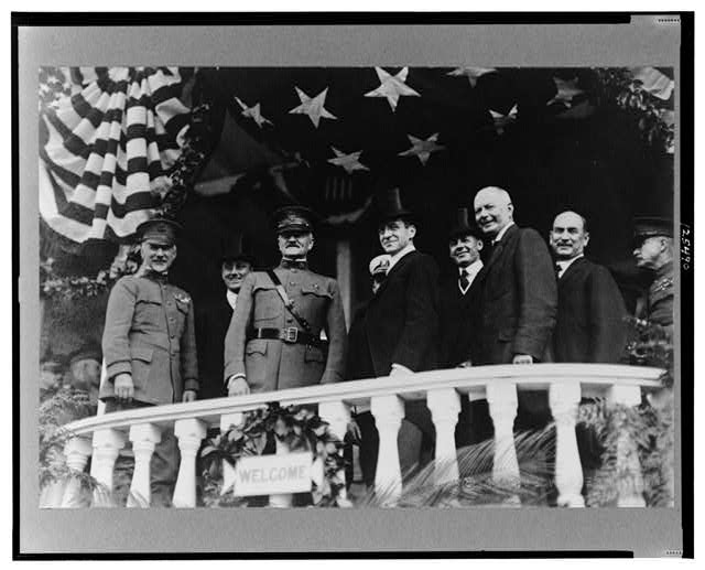 General Pershing and guests of honor at Washington parade, Sept. 17, 1919