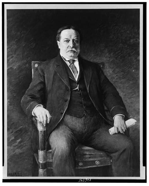 [President William H. Taft, three-quarter length portrait, seated facing front]