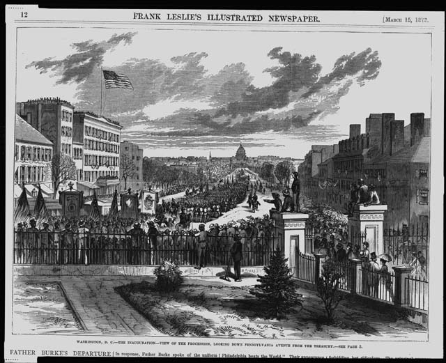 Washington D.C. - The Inauguration - View of the Procession, looking down Pennsylvania Avenue from the Treasury