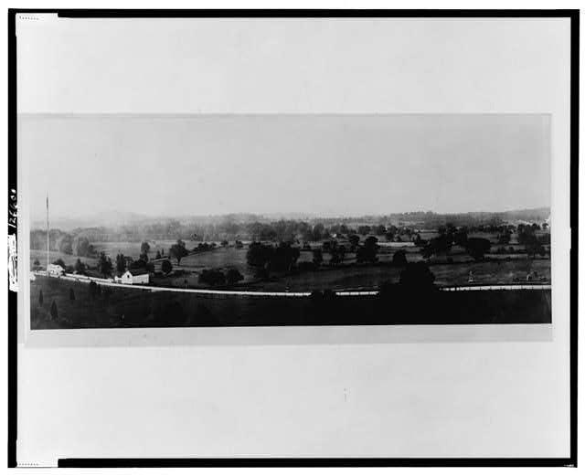 View of Gettysburg battle field
