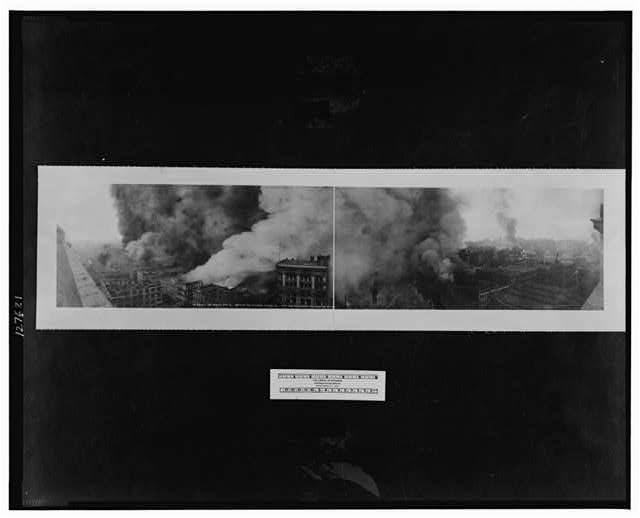 The Burning of San Francisco, April 18, view from the Merchant's Exchange Bld.