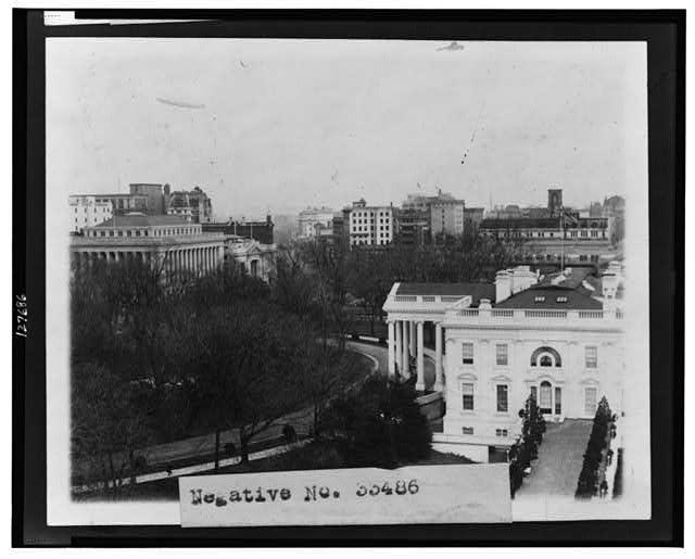 [Bird's-eye view of the White House]