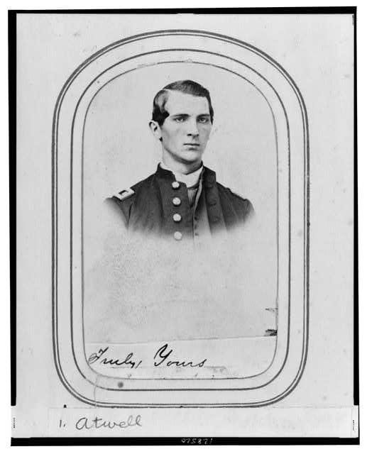 [Charles A. Atwell, bust portrait, facing right, wearing military uniform]