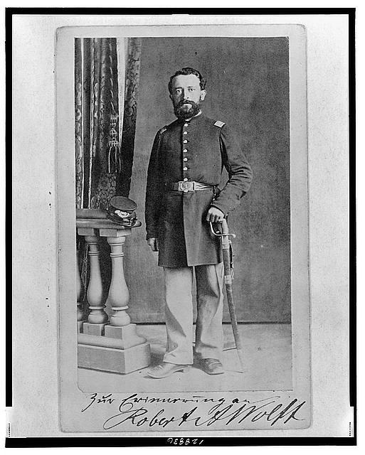[Lieutenant Robert A. Wolff, Union officer in the 32nd Indiana Regiment, full-length portrait, facing front]