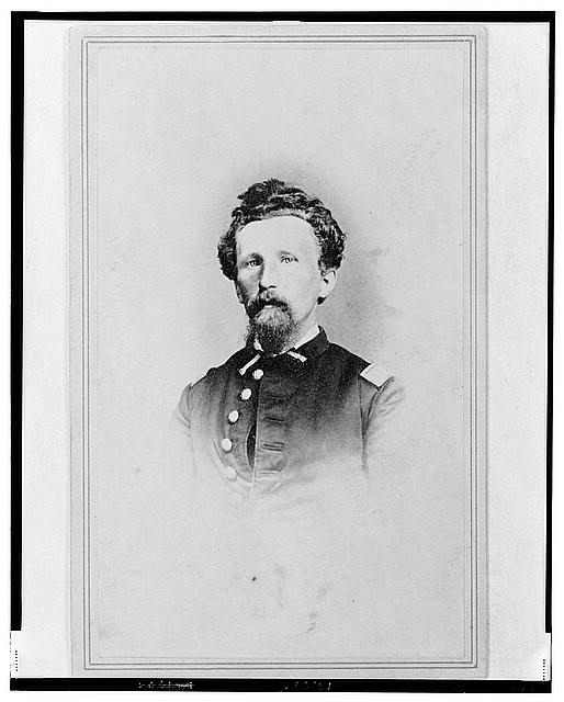 [Captain Philip H. Monninger, Union officer in the 32nd Indiana Regiment, head-and-shoulders portrait, facing front]
