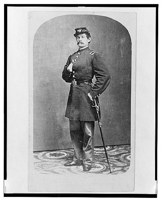 [1st Lieutenant August Bitter, Union officer in the 24th Illinois Regiment, full-length portrait, standing, facing front]